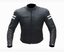 Veste En Cuir Moto Vintage Cafe Racer Blouson CE Taille M L 50 XL 52 54 3XL 4XL
