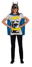 Batgirl Womens T-Shirt Costume Kit Cape Mask Batman Batwoman Dark Knight