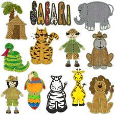 * SAFARI * Machine Applique Embroidery Patterns * 12 Designs
