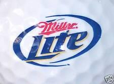 (1) MILLER LITE BEER ALCOHOL LOGO GOLF BALL