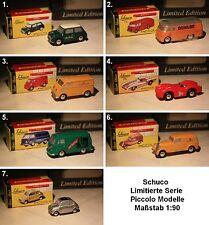 Schuco PICCOLO-DKW-VOLKSWAGEN-Austin Rover-MERCEDES BENZ-FIAT-scale 1:90 - modello