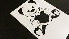 Valentine's Heart Bear Stencil Craft Card Windows Cake Wedding Decoration Paint