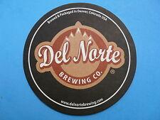 Beer Bar Coaster ~<>~ DEL NORTE Brewing Company ~ Denver, Colorado Micro Brewery