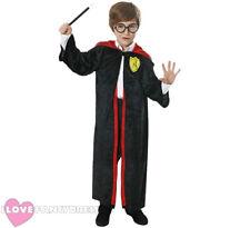 WIZARD COSTUME HALLOWEEN FANCY DRESS KIDS MAGIC BOYS OR GIRLS ROBE MED - LRG