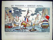 Vintage Imagerie Pellerin Le Vendeur. -Combat Naval Inv1732