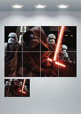 Kylo Ren Storm Trooper Light Sabre Star Wars Giant Wall Art poster Print