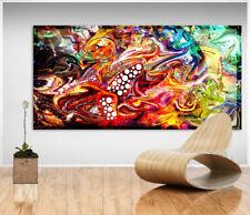 Abstrakte Kunst Bunt Farbe Bild Leinwand Bilder Wandbilder Kunstdruck Neu D1425