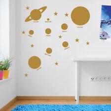 Planetas espacio del Sistema Solar Sun pared ventana Stickers Decals Niños Decoración A136