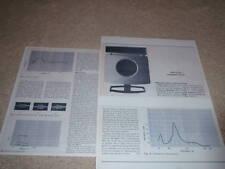 B&W 70 CA Speaker Review,1972, RARE!! Full Test,3  pgs