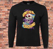 JB's Long Sleeve T-Shirt Underground Skateboard skull   Cool Design
