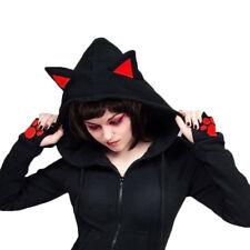 Cute Womens Long Sleeve Cat Ear Hooded Coat Hoodies Casual Sweatshirt Jacket Top