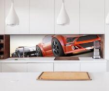 Adesivo Cucina Parete Auto Auto da Corsa Sport Lamina Mobile Paraspruzzi 22A295
