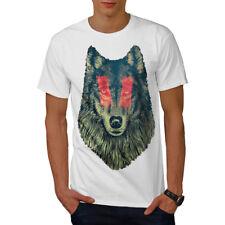 Wellcoda Wolf Eye Face Wild T-shirt homme calme, conception graphique imprimé Tee
