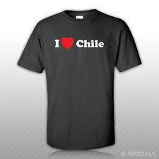 I Love Chile T-Shirt Tee Shirt Gildan S M L XL 2XL 3XL Cotton