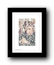 GEORGE MICHAEL ❤ Wake Me Up Before You Go Go ❤ wham! lyrics poster art print #34