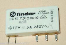 Relais FINDER 34.51.7.012.0010 12V 6A Circuit imprimé avec ou sans support