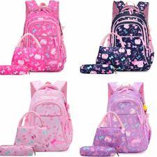 3Pcs Girl's Large Backpack School Book Bags Shoulder Rucksack Travel Bag Bookbag