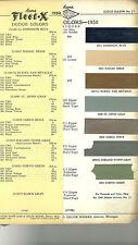 1950 DODGE Color Chip Paint Sample Chart Brochure: ACME