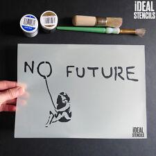 Banksy No Future Muchacha Del Globo Plantilla reutilizable pintura