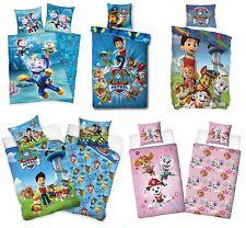 Paw Patrol Bettwäsche Kinder Kinderbettwäsche Baumwolle 135X200 Linon Flanell*