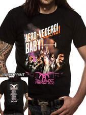 Nuevo Mercadería Oficial Para Hombre Aerosmith Aero vederci Tour fechas Camiseta Talla S-3XL