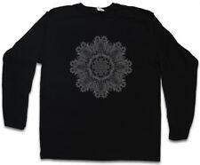 FLOWER MANDALA i Manica lunga T-shirt Yantra Induismo Buddismo Hindu Shiva OM