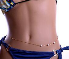 Cadena para el Cuerpo Perlas Estrellas Vientre Joyería de Hip Sexy Nuevo