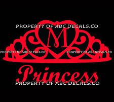 VRS Crown Royal Tiara Queen Princess Heart Love Custom INITIAL M Car Vinyl Decal