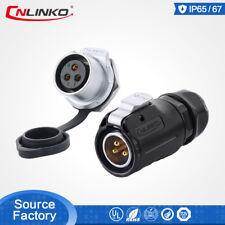 CNLinko M20 IP67 3Pin Waterproof Power Connector Solar Male Plug Female Socket