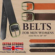 "30mm Vollleder Echtleder Handmade Jeans-hose 1.25"" G»rtel Hergestellt In England"