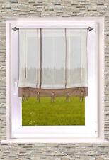 gestreiftes RAFFROLLO / Bändchenrollo in 2 Farben transparent 60cm /100cm x135cm