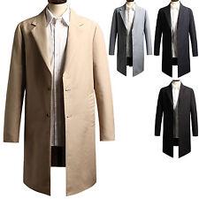 New Fashion Mens Dandy Long Blazer Jacket Jumper Trench Coat Outwear Top T030
