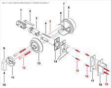 Mul T Lock Deadbolt Hercular Parts,Crown,Bolts,Harware,Strike,Wood/Steel Doors