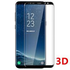 SAMSUNG S8 S9 VITRE VERRE TREMPE 3D Film De Protection Ecran Intégral Total Noir