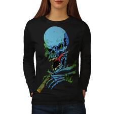 Rasta Skeleton Rock Skull Women Long Sleeve T-shirt NEW | Wellcoda