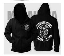 Sons Of Anarchy Back Patch Mode Unisex Zipper Hoodie Printed Sweatshirt Mantel