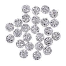24pcs  12mm Flatback Round Crystal Resin Rhinestone  Diamante for Mirror