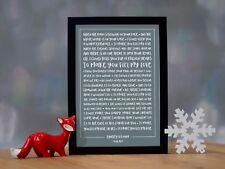 Bob Dylan - 'Make You Feel My Love' Personalised Song Lyrics Framed Print