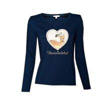 "%% LOUIS & LOUISA "" Herzallerliebst "" Shirt Langarm blau Gr.92 - 164 NEU %%"