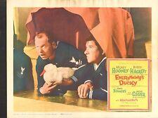 1961 MOVIE LOBBY CARD #1-0131 - EVERYTHINGS DUCKY - MICKEY ROONEY  BUDDY HACKETT