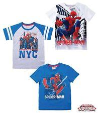 T-shirt enfants garçons MARVEL SPIDERMAN manches courtes GR 92 98 104 110 116