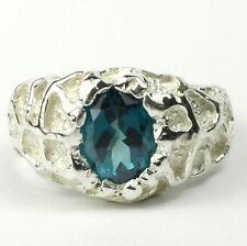 Paraiba Topaz, 925 Sterling Silver Men's Ring, SR168-Handmade