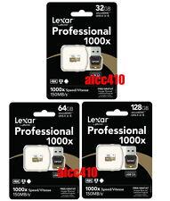 Lexar 32GB 64GB 128GB 1000x 150MB/s Micro SD SDHC SDXC UHS-II U3 Reader GoPro AU