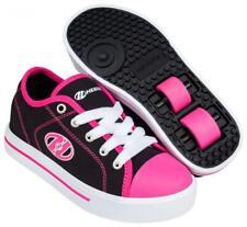Heelys Classic X2 Shoes - Black/White/Hot Pink + Free DVD
