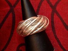 Exclusiver Designer Ring - 12 verschlungene Ringe - massiv Sterling Silber 925 -