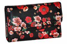 Da Donna in ecopelle effetto Multicolore Stampa PURSE WALLET CARTE DI CREDITO PORTAMONETE CASSA titolare