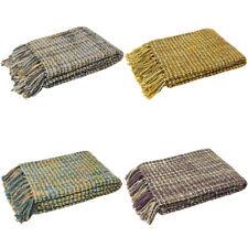 Paoletti Baoli Woven Weave Fringed Throw, 140 x 180 Cm