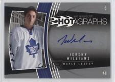 2006 Fleer Hot Prospects Hotagraphs H-JW Jeremy Williams Auto Rookie Hockey Card