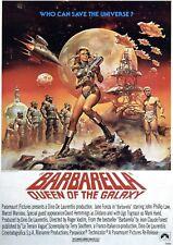 BARBARELLA VINTAGE MOVIE POSTER  FILM A4 A3 ART PRINT CINEMA