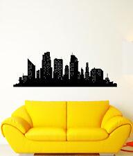 Vinyl Wall Decal Abstract Big City Skyscraper Room Decoration Stickers (2896ig)